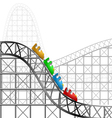 Roller coaster vector