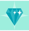 Abstract diamond concept in flat style vector