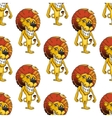 Lion with a cheesy toothy grin seamless pattern vector