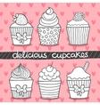 Muffin set cupcake set vector