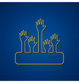 Helping hand design background stock vector