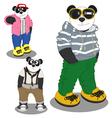 Panda lifestyle fashion vector