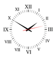 Clock on white background vector