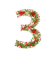 Christmas floral tree number 3 vector