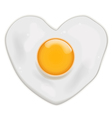 Fried egg heart shape vector