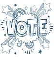 Doodle pop vote vector