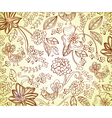 Brown floral background vector