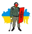 Ukrainian maidan man vector