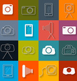Flat design photography icons set vector