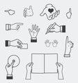 Hand and holding objects vector