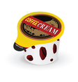 Coffee cream vector