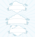 Cloud service vintage banner set vector