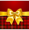 Festive background with ribbon bow vector