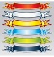 Set of colorful ribbons and banners image vector