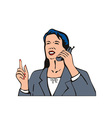 Businesswoman with phone vector
