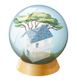 A big house inside the crystal ball vector