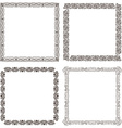 Frames set ornate and vintage design vector