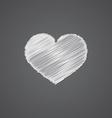 Heart sketch logo doodle icon vector