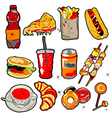 Scarry fast food elements vector