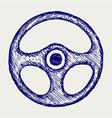 Steering wheel vector