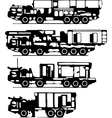 Classification of trucks silhouettes vector