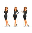 Businesswoman in various poses vector