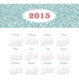 Calendar 2015 year with decorative pattern vector