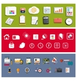 Workplace office and business work elements set vector