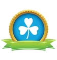 Gold shamrock logo vector