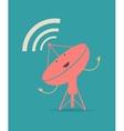 Satellite dishes antena retro poster vector