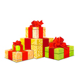 Four colorful gift box on white background vector