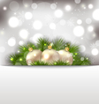 Merry christmas postcard with fir branches and vector