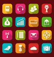 Collection simple flat icons of business and vector
