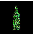 Bottle shape vector