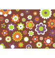 Flowers abstract pattern vector