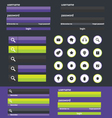 Flat web design elements vector