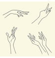 Set of symbolic signs with hands vector
