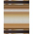 Background template copper metallic texture vector