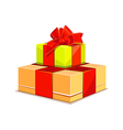 Two colorful gift box on white background vector