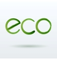 Eco label with shadow on white background vector
