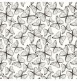 Seamless pattern with hand drawn outline vector