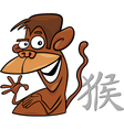 Monkey chinese horoscope sign vector