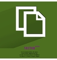 Blank paper flat modern web button with long vector