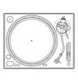 Outline vinyl turntable vector