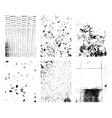 Grunge texture set  set of vector
