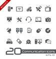 Communications icons basics vector