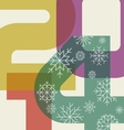 New year greeting card background vector