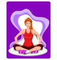 Woman practises yoga vector