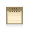 Blank notepad isolated vector