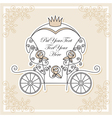 Wedding carriage vector